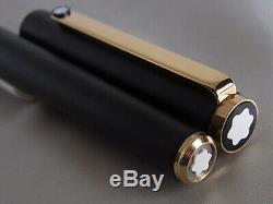 Montblanc Slim Line Fountain Pen Matte Black Steel F Nib