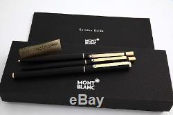 Montblanc Slimline 3 PC. Black Matte & 20k Trim. B. P, R. B, M. P. Pristine NEW