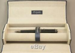Montegrappa NeroUno Linea Matte Black & Gunmetal Ballpoint Pen New In Box