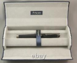 Montegrappa NeroUno Linea Matte Black & Gunmetal Rollerball Pen New In Box