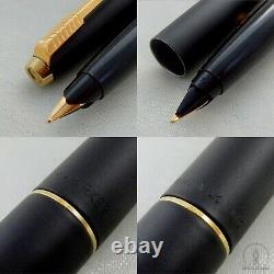 NOS Extremely Rare Parker 45 TX Matte BLACK GT Fountain Pen M Nib UK Q1 1994