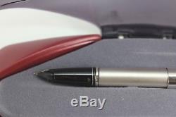 NOS Sheaffer Legacy 2 Matte Platinum & Black Fountain Pen 18K med nib New Boxed