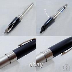 NOS Sheaffer Legacy 2 Sandblasted Platinum & Matte Black Fountain Pen 18K M Nib