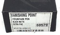 Namiki Pilot Vanishing Point Matte Black Fountain Pen EF Point
