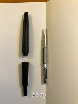Namiki Vanishing Point Fountain Pen Matte Black Stealth Faceted Broad 14k nib