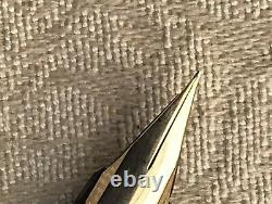 Near Mint Montblanc 220 Fountain Pen, Matte Black, 18k 750 Gold Nib, Extra Fine