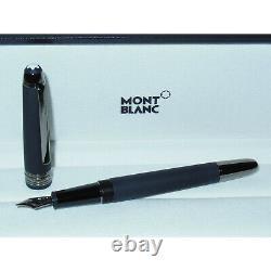 New Montblanc Meisterstuck Ultra Black Classique Fountain Pen M Nib 114827 matte