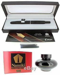 New Pilot Namiki Vanishing Point 18k Broad Nib Fountain Pen Matte Black Freeink