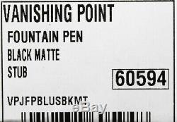 New Pilot Namiki Vanishing Point 18k Stub Nib Fountain Pen Matte Black Free Ink