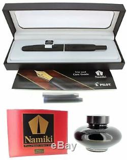 New Pilot Namiki Vanishing Point 18k Xf Nib Fountain Pen Matte Black Free Ink