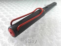New in Box Lamy Safari Matt Black with Red Clip Fountain Pen 2012 Limited Edition