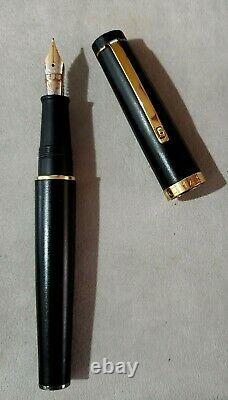 OMAS Bologna Matt Black Large Barrel Fountain Pen