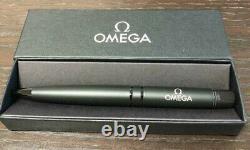 OMEGA Watch Genuine Novelty Ballpoint Pen (Matte Black) wz Box Luxury Very Rare