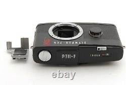 Olympus PEN F 35mm Film Camera MATTE BLACK REPAINT JAPAN WithHot Shoe #1535