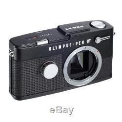 Olympus Pen Ft Half-frame Film Camera Matte Black Repainted / Read! / 30d Wrt