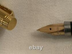 PARKER 75 INSIGNIA GOLD/CICELE PATTERN FOUNTAIN PEN RARE, FLAT ENDS, 1970's