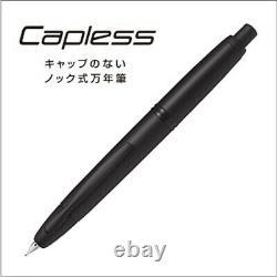 PILOT CAPLESS Fountain Pen Matt Black Extra Fine Nib FC-18SR-BM-EF Free FedEx