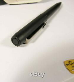 Parker 25 Epoxy Matt Black Ballpoint Pen Mint Nos With Original Dealer Clip Tag