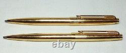 Parker 75 Insignia Ball Pen and Pencil Set Pre 1970 Flat Top New Old Stock