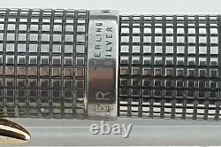 Parker 75 Sterling Silver Cisele Fp+pencil Set 14k X Fine Nib Flat Tassies