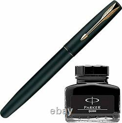 Parker Frontier Matte Black GT Fountain Pen + Quink Ink Bottle Black (30ML)
