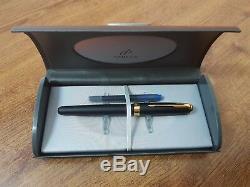 Parker Sonnet Fountain Pen Gold France Matte Black Rare ORIGINAL 2004 y