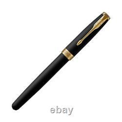 Parker Sonnet Fountain Pen Matte Black Gold Trim