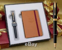 Parker Sonnet Rollerball Pen Gift Set Matte Black Gold Trim