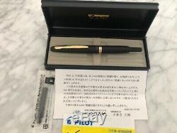 Pilot Capless VANISHING POINT Matte Black 18K F-nib Japan only release Limited