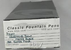 Pilot Capless Vanishing Point Matte Black Fountain Pen 18kt EF Nib -NEW In Box