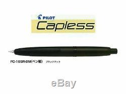 Pilot FC18SRBMEF Matte Black Fountain Pen Capless Extra Fine Nib