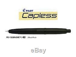 Pilot Fountain Pen Capless Matt Black Extra Fine Nib Fc-18sr-bm-ef