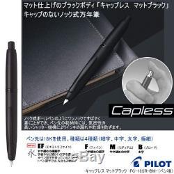 Pilot Namiki CAPLESS Fountain Pen Matt Black Broad Nib FC-18SR-BM-B