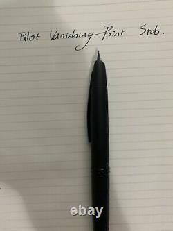Pilot Vanishing Point Fountain Pen in Matte Black 18K Gold Stub Nib