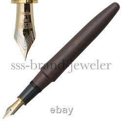 Platinum Fountain Pen Izumo TAGAYASAN matte Wood 18K Gold Nib F. M. B PIZ-50000