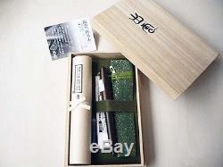 Platinum Izumo Matte Tagayasan Bombay Black Wood Fountain Pen 18K PIZ-5000 F / M