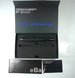 Porsche Design M3110 Tech Flex Matt-Black Chrome Coating Fountain Pen 18k
