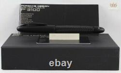 Porsche Design P3110 Tec Flex Matt-black Chrome Coating Fountain Pen Awesome New
