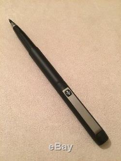 Rare 1981 Parker 25 Epoxy Matt Black-black Trim Rollerball Pen-england-nr Mint