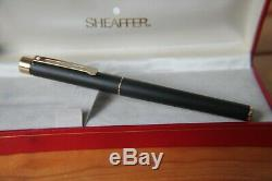 Rare Matt Black Sheaffer Targa Fountain Pen gold nib near mint