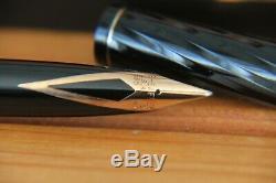 Rare Matt Sheaffer Targa Model 1083 Laque Black Spiral 2nd Edition
