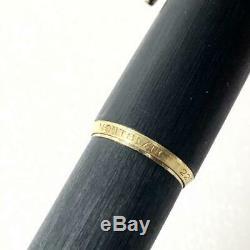 Rare Montblanc Fountain Pen 220 Nib 14K 585 EF Matt Black Hairline Gold Trim