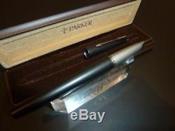 Rare Parker Falcon Fountain Pen In Matt Black