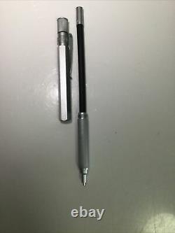 Retro 51 1951 Hex-O-Matic Hexomatic Hexagonal Mechanical Pencil Silver Matte