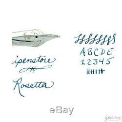 Rosetta Vulcan Fountain Pen, Stealth Matte Black, Cursive Italic SS Nib