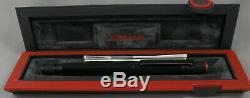 Rotring 600 Matte Black Fountain Pen In Box Medium Nib 1990's Germany