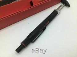 Rotring 600 Newton Multi Pen & Pencil Trio Matte Black Aluminum New In Box