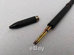 Rotring 600 Trio Matte Black Ballpoint Pen Blue Red & Pencil Vintage