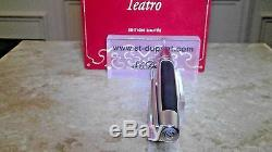 S. T. Dupont Defi Ball Point Pen, Matte Black & Brushed Chrome 405712 New In Box