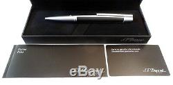 S. T. Dupont Defi Ballpoint Pen In Matte Black And Brushed Chrome New In Box
